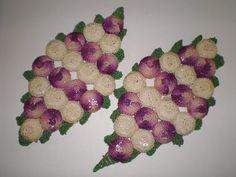 Vintage Crocheted Grapes Bottle Cap Hot Pads Trivets. $7.50, via Etsy.
