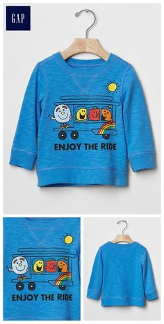 Mr. Men™ + babyGap sunny trolley tee - A limited edition collection introducing new characters inspired by our founders, Mr. Gap and Little Miss Gap, and their passion to spread peace, love, jeans, and more.