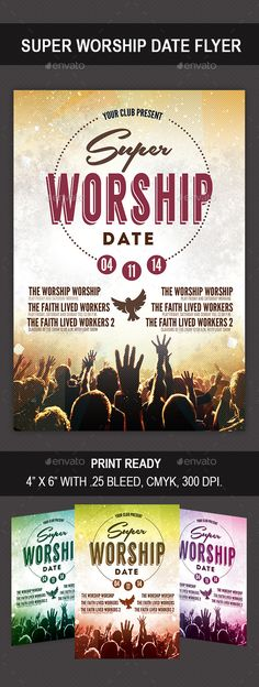 Church Flyer Bundle - Party Flyer Templates For Clubs Business - Benefit Flyer Template