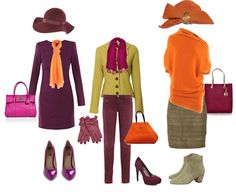 How to wear orange -- color combinations