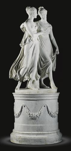 Lorenzo Bartolini (1777-1850) -  Italian, Rome, circa 1820. THE CAMPBELL SISTERS DANCING A WALTZ - marble: 170cm.