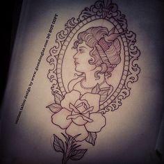 Cameo Tattoo by guen douglas
