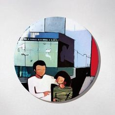 Fridge Magnet - Couple. The colourful souvenir from Warsaw for your fridge or magnetic board. $10 zł