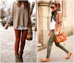 Dicas para combinar jeans colorido!    http://dicadaduda.com.br/blog/calcas-coloridas/