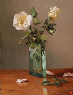 Winter Roses by Laurie Kersey Oil ~ 18 x 14