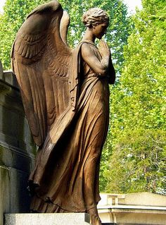 "In the cemetery of Turin, the angels are legions…. (I ""processed"" a bunch of angels for an art professor once)."