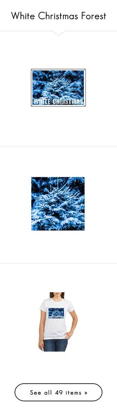 """""""White Christmas Forest"""" by polyart-466 ❤ liked on Polyvore featuring home, home decor, holiday decorations, christmas holiday decor, christmas holiday decorations, forest home decor, navy blue home decor, christmas home decor, car home decor i car interior decor"""