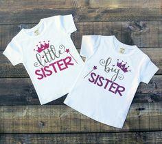 Little/Big Sister Glitter Princess Shirt