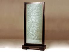 Single Panel Crackled Glass Room Partition