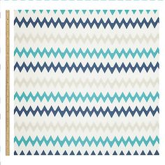Buy John Lewis Robotica Chevron Fabric, Blue Online at johnlewis.com