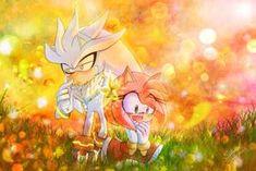 Silvamy - I love flower but I love you more by on DeviantArt Sonic The Hedgehog, Hedgehog Art, Silver The Hedgehog, Shadow The Hedgehog, Amy Rose, Sonic And Amy, Sonic Fan Art, Love You More, Love Flowers