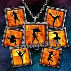 Fire Dance Silhouettes 1 48 square images 15 1 7/8 by images4you, $3.95