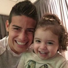 Cheeeeeeese James and his cute daughter Salome. 2015