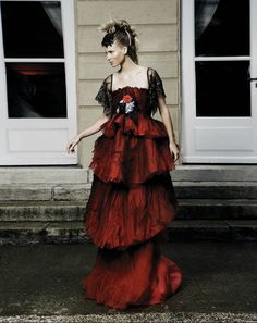 Summer 2008 Christian Lacroix-it looks a little like Lady Mary's red evening dress
