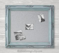 "Decorative White Boards long narrow chalkboard for sale 56""x32"" baroque oak kitchen"
