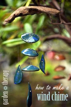 How to make a wind chime via www.gardentherapy.ca