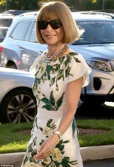 Wintour wonderland: Vogue's editor-in-chief Anna there to ogle the tennis…