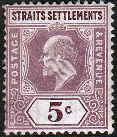 Straits Settlements 1902 King Edward VII SG 113 Fine Fine Mint Scott 96 Other Malay Straits Stamps HERE