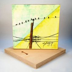 Image of Country Birds 3 Art Print on Wood