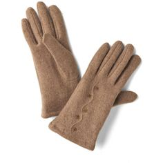Cinnamon French Toasty Gloves ($25) ❤ liked on Polyvore featuring accessories, gloves and cashmere gloves