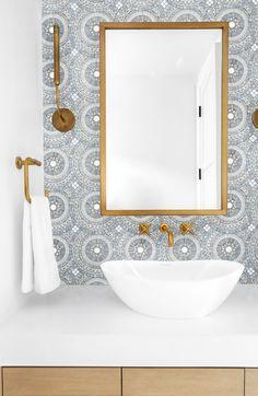 Artistic Tile I We love the classy combination of our Blue Note Circles mosaic, . Artistic Tile I We love the classy combination of our Blue Note Ci Best Bathroom Tiles, Bathroom Tile Designs, Bathroom Flooring, Bathroom Interior Design, Bathroom Furniture, Master Bathroom, Tiled Bathrooms, Bathroom Ideas, Bathroom Backsplash Tile