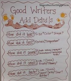 Showing Telling Adding Details Writing