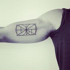 geometric tattoo, 2 spirit tattoo blackwork by Matt Matik (instagram)  @Michelle Flynn Yenerall I told you this would look cool