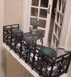 love this miniature balcony