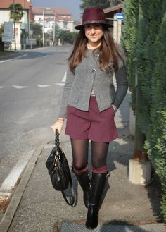 Grey and Bordeaux – SILVIA AROSSA
