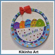 Kikinho Art: Cesta com ovos para a Páscoa