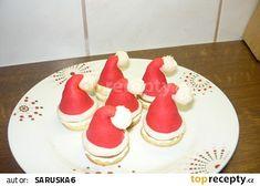Santovy čepičky recept - TopRecepty.cz Czech Recipes, Sweets Cake, Mini Cakes, Christmas Baking, Christmas Cookies, Fondant, Food And Drink, Drinks, Anna