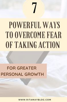 7 powerful ways to overcome the fear of taking action for greater personal growth. #procastination #selfimprovement #selfdevelopment #personalgrowth Self Development, Personal Development, Time Management Tips, Take Action, Life Purpose, Positive Mindset, Feeling Happy, How To Stay Motivated, Best Self