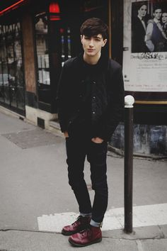 black jeans dr martens bomberjack hair fashion style streetstyle tumblr hipster