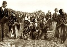 Miracle of the sun October 13 1917, Fatima, Portugal.