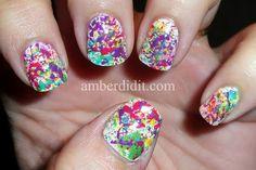Electro Pop Splatter Nails