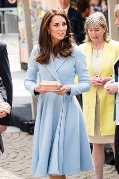 Catherine, Duchess of Cambridge tours a cycling themed festival and unveils a mural of British cyclist Tom Simpson and Luxembourgish cycling legend Charly Gaul during a one day visit to Luxembourg at Place de Clairfontaine on May 11, 2017 in Luxembourg.