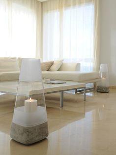 Large glass Nordic style hurricane lamp #Nordic #hurricane #lamp
