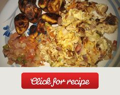 Nigerian Fried Plantain  With Eggs A chewy and spongy delicacy.