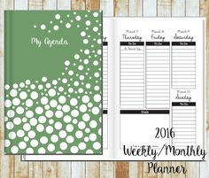 2016/2017 Weekly Planner- Bubbles on Mint