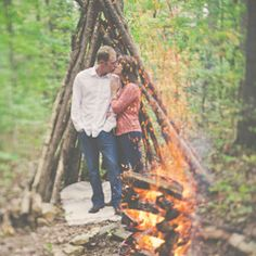 Burning Love! An amazing outdoor session that will make you feel the heat....and not just from the fire!