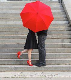 Red Umbrella~~ Engagement photos