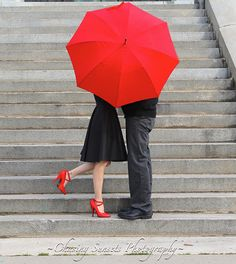 Red Umbrella~~ Engagement photos