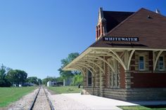 old train depot, Whitewater, Wisconsin