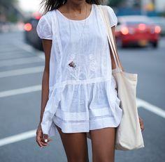 cute white linen jumpsuit