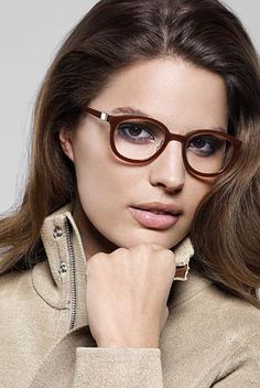 Lindberg eyewear pretty, on her face