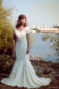 We love vintage wedding gowns, especially those with charming, otherworldly qualities. And just the thing to bring that enchanting vintage inspired magic Wedding Dress Tumblr, Wedding Dress 2013, Designer Wedding Gowns, Perfect Wedding Dress, Wedding Pics, Wedding Blog, Modest Wedding Dresses With Sleeves, Bridesmaid Dresses, Bridal Collection
