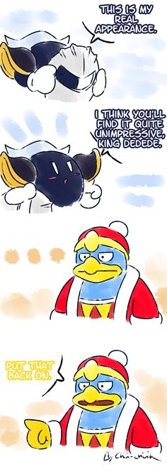 XD dedede's face last panel
