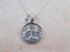 Sterling silver Epona horses necklace Epona horses Celtic