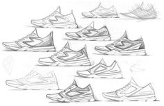 Footwear Sketches! on Behance