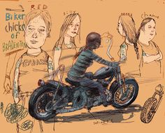 #ReganDunnick #motorcycle #BikerChics #motorcyclemama #illustration #Bradenton #lindgrensmith
